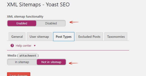 Yoast Media Attachments in Sitemap