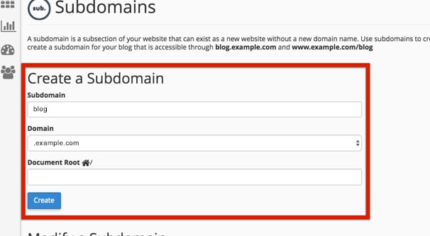 Example Subdomain