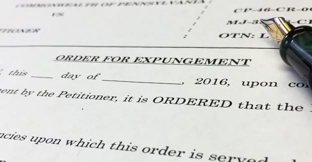 Order for Expungement