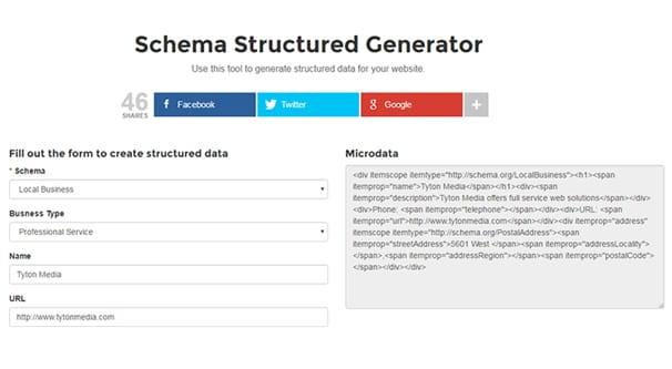 Schema Structure Generator