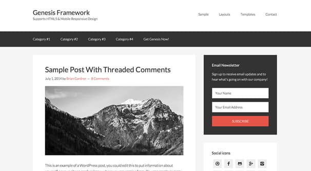 Wordpress Genesis Framework