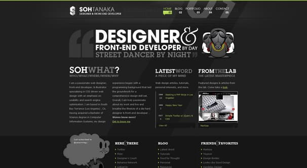 Dark Site Design Example