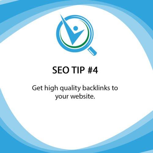 SEO Tip 4 Get high quality backlinks