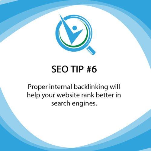 SEO Tip 6 Internal backlinking