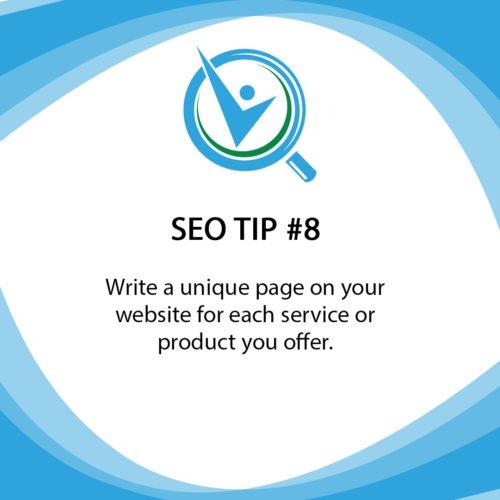 SEO Tip 8 Write a unique page