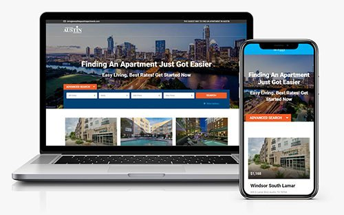Austin Apartments Real Estate Website by JS Interactive