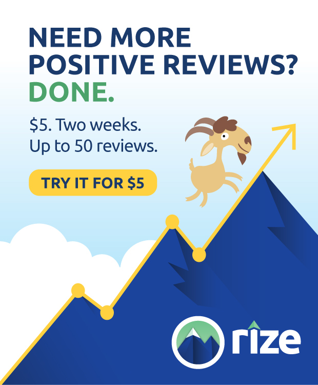 try Rize Reviews for $5