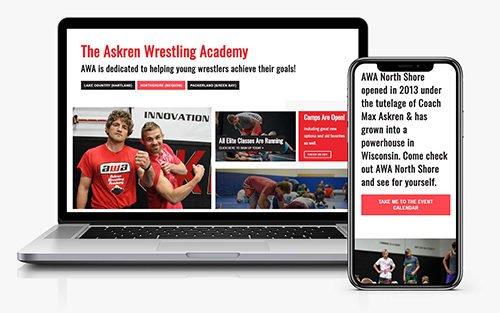 Ben Askren Wrestling Academy website by JS Interactive