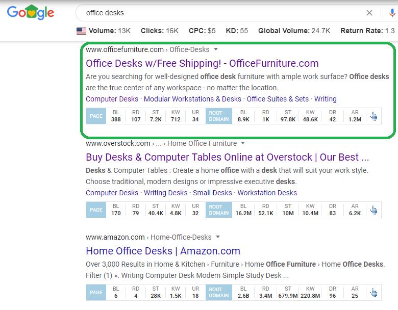 Office Desks Example