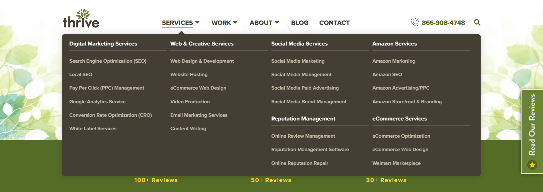 Thrive services page