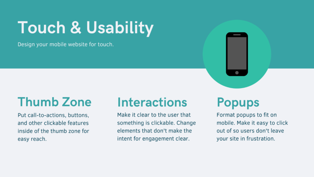 Touch and Usability
