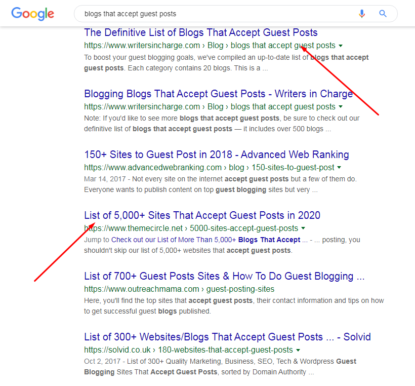 blogs that accept guest post