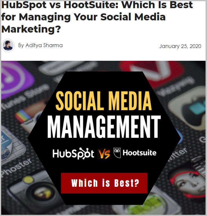 HubSpot vs. HootSuite