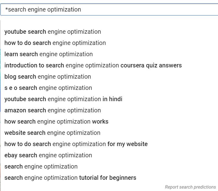 keywords query