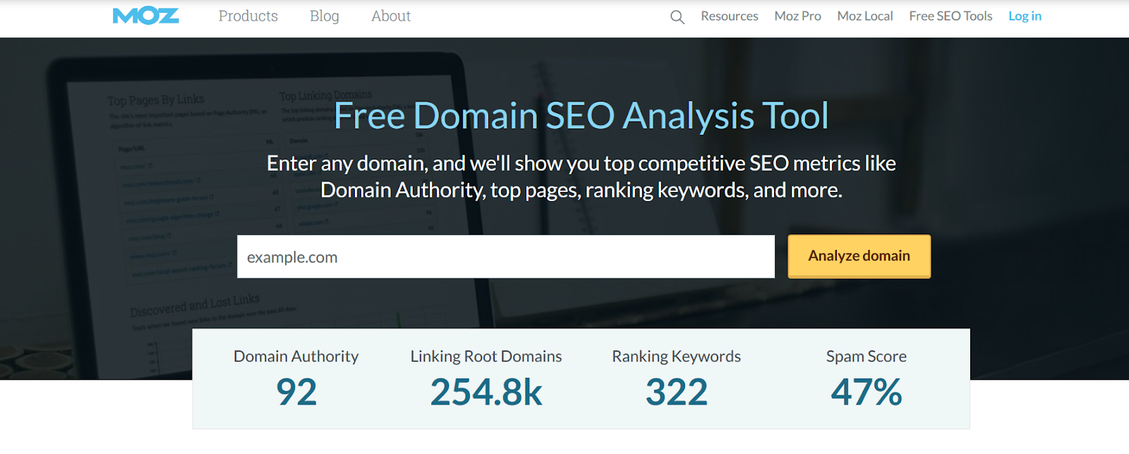 moz domain sample