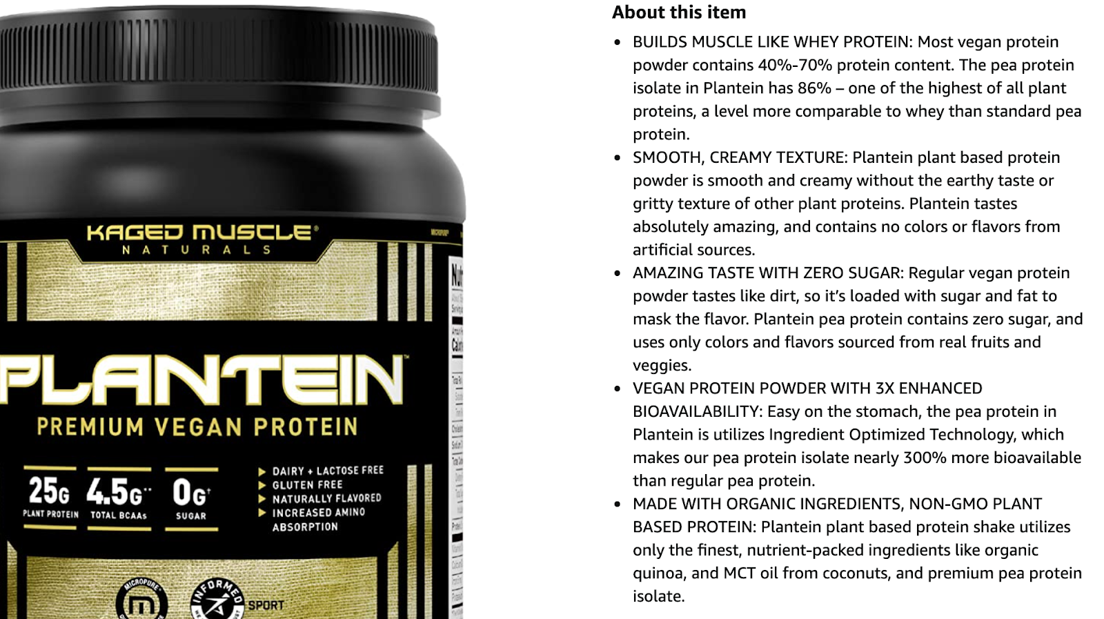 plantein premium vegan protein