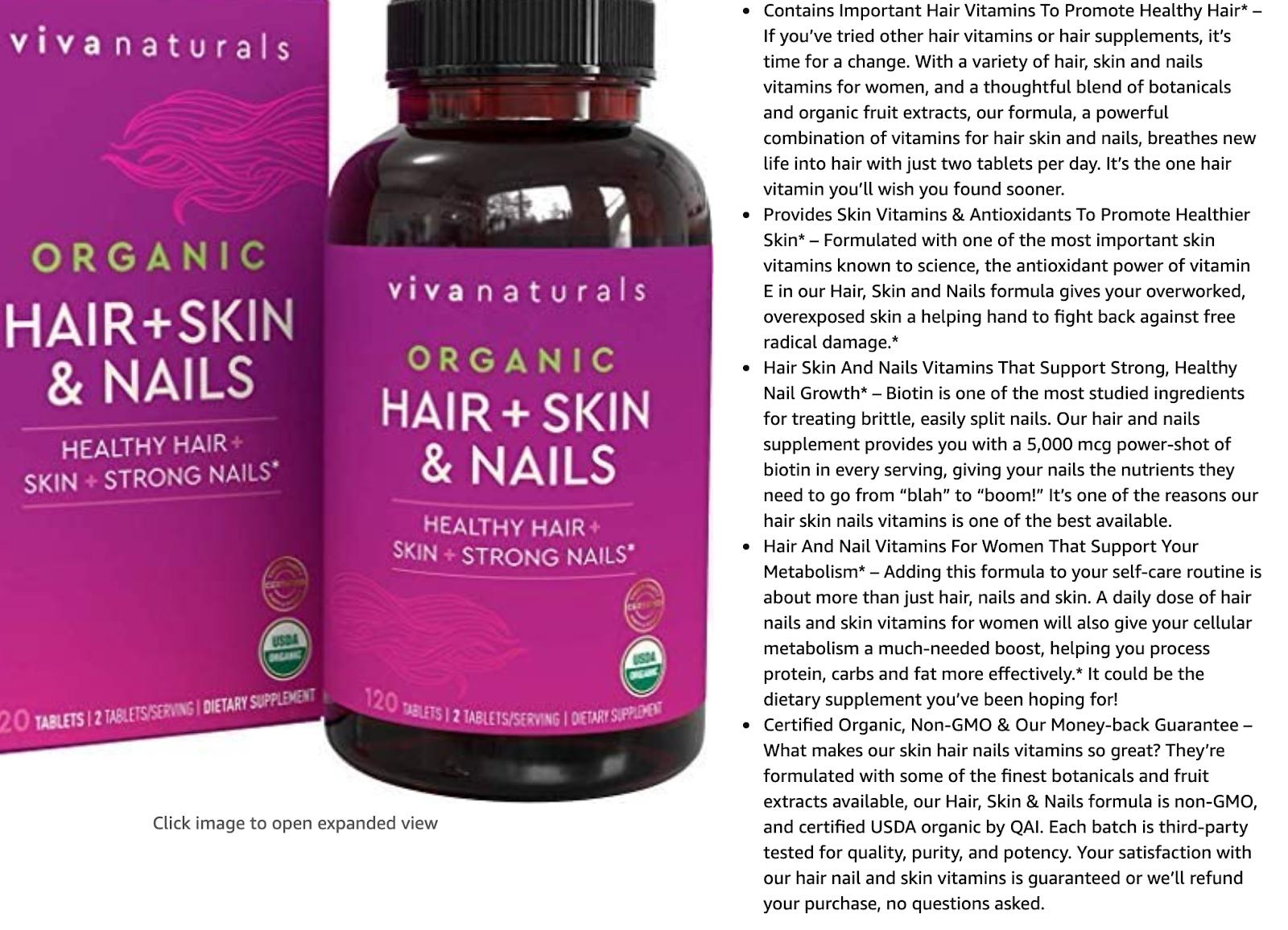 viva naturals product